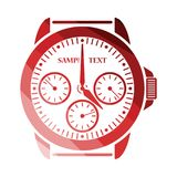 Watches icon. Flat color design. Vector illustration Royalty Free Stock Image