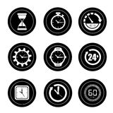 Watches icons Stock Photos