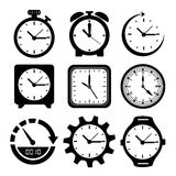 Watches icons Stock Images