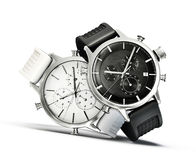 Watches. Modern watches   on a white background Royalty Free Stock Images