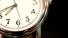 Watches second hand. Figures 4,5,6,7 close-up stock video footage