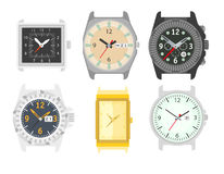 Free Watches Set. Stylish Accessory For Men. Royalty Free Stock Photography - 80135777