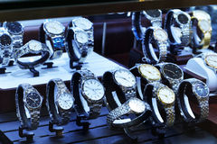 Watches  in shop window Stock Image