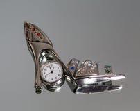 Watches, slipper, souvenir Royalty Free Stock Photos