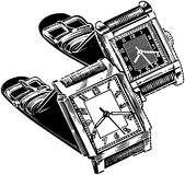 Watches Square Face Stock Photos