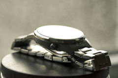 Watches with stainless steel bracelet Stock Images
