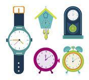 Watches. Types of watches design over white background vector illustration Royalty Free Stock Image