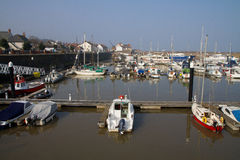 Watchet harbour Somerset England Royalty Free Stock Photography