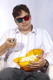 Watching 3D Movie Stock Images