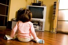 Watching cartoons Stock Photos