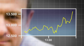 Watching the Chart Stock Photos