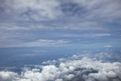 Watching the clouds from the height Stock Photo