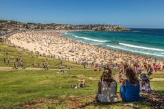 Watching the crowds at Bondi Beach