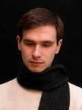 Watching down. The man with the scarf wathing down Stock Images