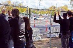 Watching a Drag Race Stock Photos