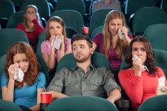 Watching drama. Stock Image