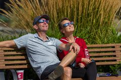 Watching the eclipse Royalty Free Stock Images