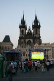 Watching Euro 2008 in Prague Royalty Free Stock Photos