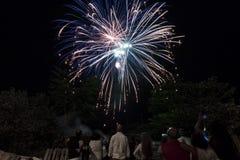 Watching fireworks Royalty Free Stock Image
