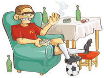 Watching football stock illustration