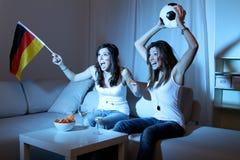 Watching Football Royalty Free Stock Photo