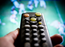 Watching football Stock Image