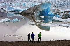 Watching the glacier Royalty Free Stock Images
