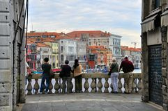 Watching Grand Canal Royalty Free Stock Photography