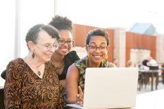 Watching laptop Royalty Free Stock Photography