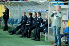 Watching the match Stock Photos