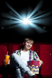 Watching a movie Stock Images
