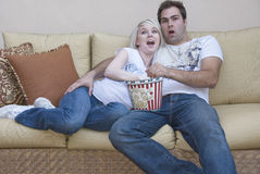 Watching movie Stock Photos