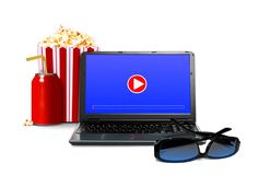 Watching movie online concept Royalty Free Stock Photo