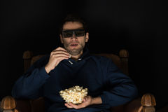 Watching movie Stock Photography