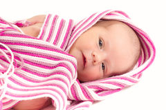 Watching newborn baby Royalty Free Stock Photography