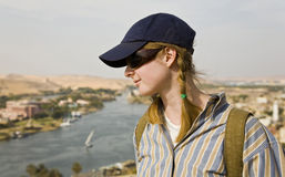 Watching the Nile river. Stock Photos