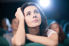 Watching  romantic movie.  Royalty Free Stock Images