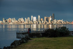 Watching The Seattle Skyline 2 Royalty Free Stock Photography