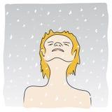 Watching the snow (vector) Stock Photos