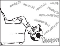 Watching soccer Stock Images