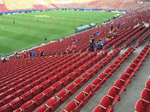 Watching soccer matches. People watching soccer matches at TOYOTA stadium , Frisco TX, USA Stock Photos