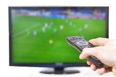 Watching sports Stock Photo