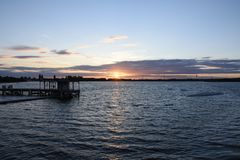 Beautiful Summer Sunset at Chasewater, Staffordshire Stock Images