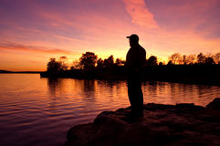 Watching the Sunset Stock Photography