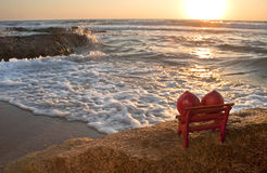 Watching the Sunset. The sunset at the Mediterranean Royalty Free Stock Photo