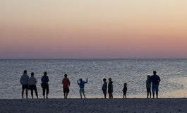 Watching The Sun Set Stock Image