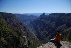Watching The Views Of Grand Canyon Stock Image