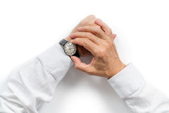 Watching the time Stock Images