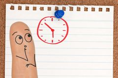 Watching Time Running Out on the Clock royalty free stock image