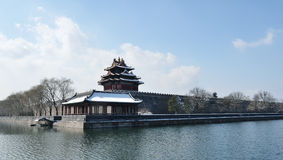 Watching tower of the Forbidden City Stock Photo